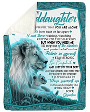 "NEVER FEEL THAT YOU ARE ALONE Large Sherpa Fleece Blanket - 60"" x 80"" thumbnail"