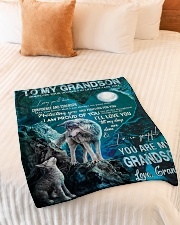 """I PRAY YOU'LL HAVE CONFIDENCE AND STRENGTH Small Fleece Blanket - 30"""" x 40"""" aos-coral-fleece-blanket-30x40-lifestyle-front-01"""