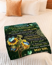 "NEVER FEEL THAT YOU ARE ALONE  Small Fleece Blanket - 30"" x 40"" aos-coral-fleece-blanket-30x40-lifestyle-front-01"