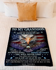 """DEEP IN YOUR HEART - GREAT GIFT FOR GRANDSON Small Fleece Blanket - 30"""" x 40"""" aos-coral-fleece-blanket-30x40-lifestyle-front-04"""