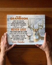 YOU WILL NEVER LOSE - GRANDPA TO GRANDSON 14x11 Gallery Wrapped Canvas Prints aos-canvas-pgw-14x11-lifestyle-front-27