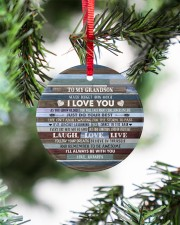 BELIEVE IN YOURSELF - LOVELY GIFT FOR GRANDSON Circle ornament - single (porcelain) aos-circle-ornament-single-porcelain-lifestyles-07