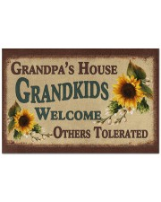 """GRANDKIDS WELCOME OTHERS TOLERATED Doormat 22.5"""" x 15""""  front"""