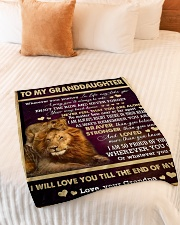 "I AM SO PROUD OF YOU - BEST GIFT FOR GRANDDAUGHTER Small Fleece Blanket - 30"" x 40"" aos-coral-fleece-blanket-30x40-lifestyle-front-01"