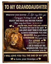 "I AM SO PROUD OF YOU - BEST GIFT FOR GRANDDAUGHTER Small Fleece Blanket - 30"" x 40"" front"
