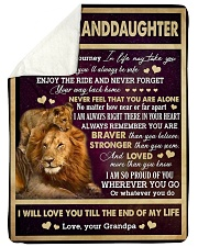 "I AM SO PROUD OF YOU - BEST GIFT FOR GRANDDAUGHTER Large Sherpa Fleece Blanket - 60"" x 80"" thumbnail"