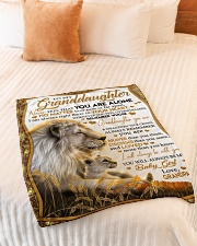 """NEVER FEEL THAT YOU ARE ALONE Small Fleece Blanket - 30"""" x 40"""" aos-coral-fleece-blanket-30x40-lifestyle-front-01"""