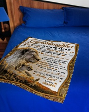 """NEVER FEEL THAT YOU ARE ALONE Small Fleece Blanket - 30"""" x 40"""" aos-coral-fleece-blanket-30x40-lifestyle-front-02"""