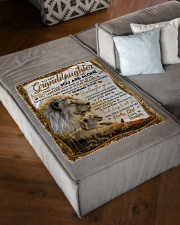 """NEVER FEEL THAT YOU ARE ALONE Small Fleece Blanket - 30"""" x 40"""" aos-coral-fleece-blanket-30x40-lifestyle-front-03"""