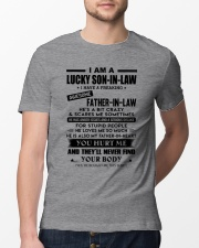 HE LOVES ME SO MUCH - LOVELY GIFT FOR SON-IN-LAW Classic T-Shirt lifestyle-mens-crewneck-front-13
