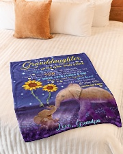 """SHE CALLED ME GRANDPA - GIFT FOR GRANDDAUGHTER Small Fleece Blanket - 30"""" x 40"""" aos-coral-fleece-blanket-30x40-lifestyle-front-01"""
