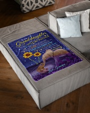 """SHE CALLED ME GRANDPA - GIFT FOR GRANDDAUGHTER Small Fleece Blanket - 30"""" x 40"""" aos-coral-fleece-blanket-30x40-lifestyle-front-03"""