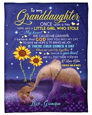 "SHE CALLED ME GRANDPA - GIFT FOR GRANDDAUGHTER Small Fleece Blanket - 30"" x 40"" front"