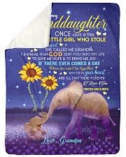 SHE CALLED ME GRANDPA - GIFT FOR GRANDDAUGHTER Sherpa Fleece Blanket tile