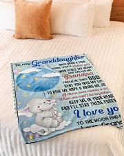 """I LOVE YOU TO THE MOON AND BACK Small Fleece Blanket - 30"""" x 40"""" aos-coral-fleece-blanket-30x40-lifestyle-front-01"""