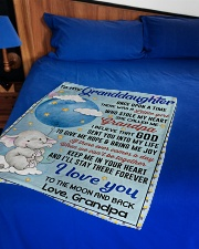 """I LOVE YOU TO THE MOON AND BACK Small Fleece Blanket - 30"""" x 40"""" aos-coral-fleece-blanket-30x40-lifestyle-front-02"""