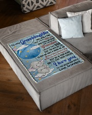 """I LOVE YOU TO THE MOON AND BACK Small Fleece Blanket - 30"""" x 40"""" aos-coral-fleece-blanket-30x40-lifestyle-front-03"""