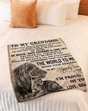 """I'M PROUD OF YOU - BEST GIFT FOR GRANDSON Small Fleece Blanket - 30"""" x 40"""" aos-coral-fleece-blanket-30x40-lifestyle-front-01"""
