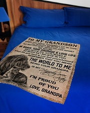 """I'M PROUD OF YOU - BEST GIFT FOR GRANDSON Small Fleece Blanket - 30"""" x 40"""" aos-coral-fleece-blanket-30x40-lifestyle-front-02"""