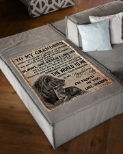 """I'M PROUD OF YOU - BEST GIFT FOR GRANDSON Small Fleece Blanket - 30"""" x 40"""" aos-coral-fleece-blanket-30x40-lifestyle-front-03"""