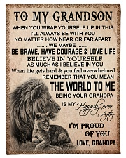 """I'M PROUD OF YOU - BEST GIFT FOR GRANDSON Small Fleece Blanket - 30"""" x 40"""" front"""