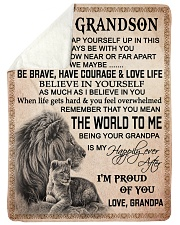 """I'M PROUD OF YOU - BEST GIFT FOR GRANDSON Large Sherpa Fleece Blanket - 60"""" x 80"""" thumbnail"""