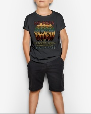 HE MAKES STUFF UP REALLY FAST Youth T-Shirt lifestyle-youth-tshirt-front-1