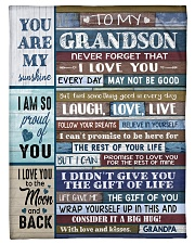 "FOLLOW YOUR DREAMS - GRANDPA TO GRANDSON Small Fleece Blanket - 30"" x 40"" front"