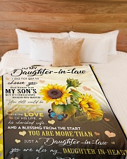 """YOU ARE MORE THAN JUST A DAUGHTER-IN-LAW Large Fleece Blanket - 60"""" x 80"""" aos-coral-fleece-blanket-60x80-lifestyle-front-02"""