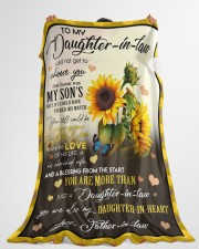 """YOU ARE MORE THAN JUST A DAUGHTER-IN-LAW Large Fleece Blanket - 60"""" x 80"""" aos-coral-fleece-blanket-60x80-lifestyle-front-10"""