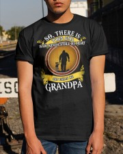WHO KINDA STOLE MY HEART- PERFECT GIFT FOR GRANDPA Classic T-Shirt apparel-classic-tshirt-lifestyle-29