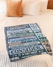 "1 DAY LEFT - GET YOURS NOW Small Fleece Blanket - 30"" x 40"" aos-coral-fleece-blanket-30x40-lifestyle-front-01"