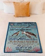 """NEVER FORGET THAT I LOVE YOU Small Fleece Blanket - 30"""" x 40"""" aos-coral-fleece-blanket-30x40-lifestyle-front-04"""
