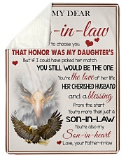 """YOU'RE MORE THAN JUST A SON-IN-LAW Large Sherpa Fleece Blanket - 60"""" x 80"""" thumbnail"""