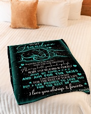 "NEVER STOP BELIEVING IN YOURSELF Small Fleece Blanket - 30"" x 40"" aos-coral-fleece-blanket-30x40-lifestyle-front-01"
