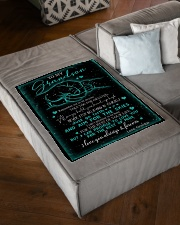 "NEVER STOP BELIEVING IN YOURSELF Small Fleece Blanket - 30"" x 40"" aos-coral-fleece-blanket-30x40-lifestyle-front-03"