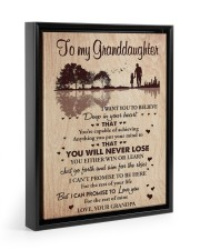 DEEP IN YOUR HEART - BEST GIFT FOR GRANDDAUGHTER 11x14 Black Floating Framed Canvas Prints thumbnail