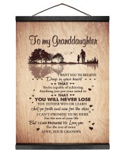 DEEP IN YOUR HEART - BEST GIFT FOR GRANDDAUGHTER 12x16 Black Hanging Canvas thumbnail