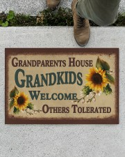 """GRANDKIDS WELCOME OTHERS TOLERATED Doormat 22.5"""" x 15""""  aos-doormat-22-5x15-lifestyle-front-01"""