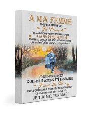 À MA FEMME 11x14 Gallery Wrapped Canvas Prints front