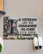 """A VETERAN AND HIS COMMANDER-IN-CHIEF LIVE HERE Doormat 22.5"""" x 15""""  aos-doormat-22-5x15-lifestyle-front-07"""