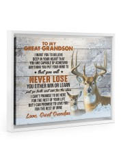 YOU WILL NEVER LOSE - GIFT FOR GREATGRANDSON Floating Framed Canvas Prints White tile