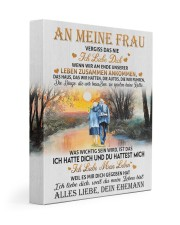 AN MEINE FRAU 11x14 Gallery Wrapped Canvas Prints front