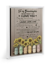 LIFE GAVE ME THE GIFT OF YOU 11x14 White Floating Framed Canvas Prints thumbnail