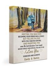 MEETING YOU WAS FATE - LOVELY GIFT FOR WIFE 11x14 Gallery Wrapped Canvas Prints front