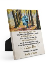 MEETING YOU WAS FATE - LOVELY GIFT FOR WIFE Easel-Back Gallery Wrapped Canvas tile