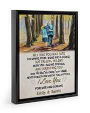 MEETING YOU WAS FATE - LOVELY GIFT FOR WIFE Floating Framed Canvas Prints Black tile
