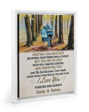 MEETING YOU WAS FATE - LOVELY GIFT FOR WIFE Floating Framed Canvas Prints White tile