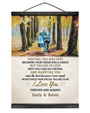 MEETING YOU WAS FATE - LOVELY GIFT FOR WIFE 12x16 Black Hanging Canvas thumbnail