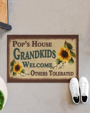 """GRANDKIDS WELCOME OTHERS TOLERATED Doormat 22.5"""" x 15""""  aos-doormat-22-5x15-lifestyle-front-07"""